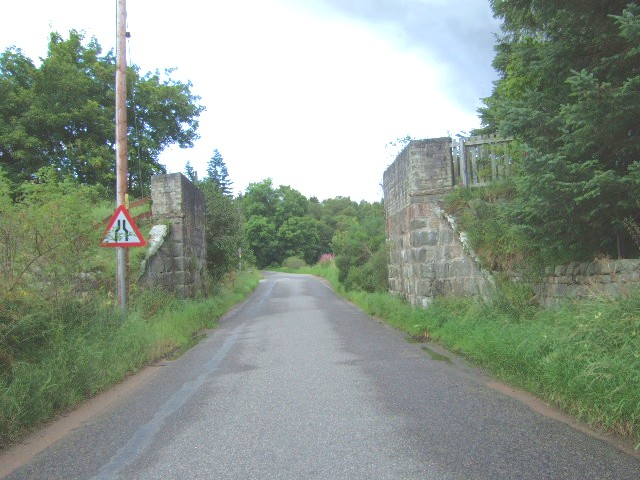 Remains of old Deeside Railway bridge