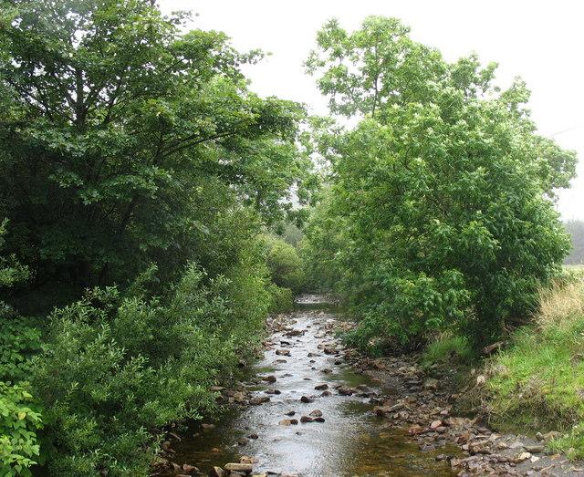 Afon Prysor - view upstream from Bryn-celynog bridge