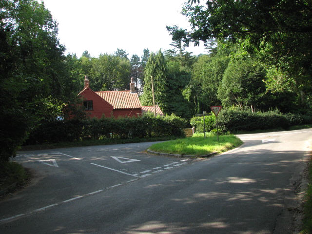 Junction at Great Wood Cottage