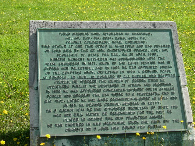 Plaque for Kitchener Statue, Chatham