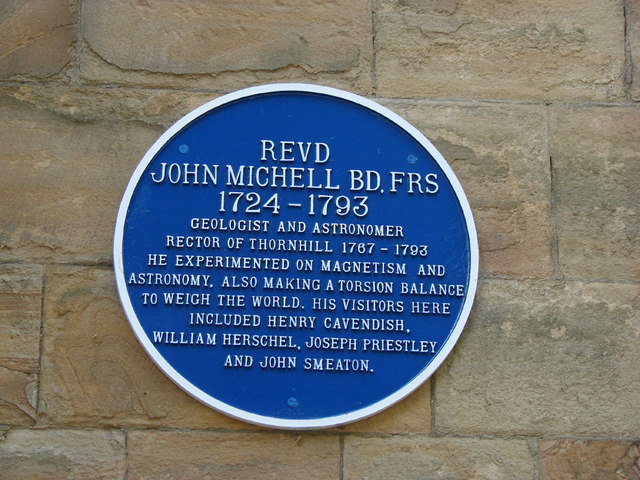 Plaque on St Michael and All Angels Church, Thornhill.