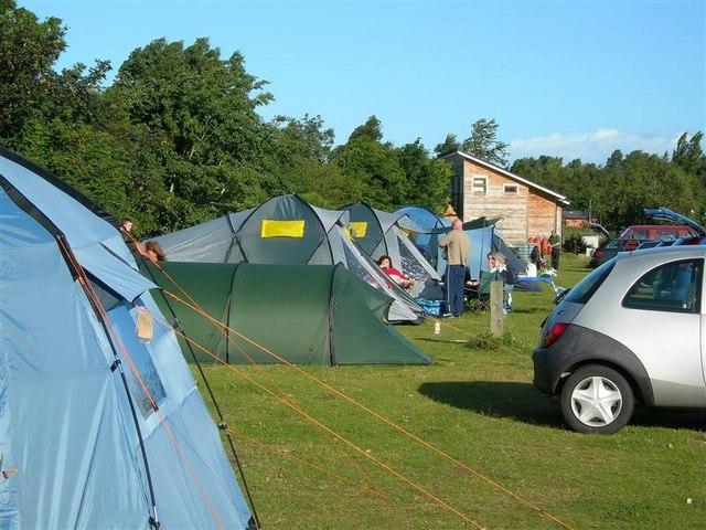 Camping at Findhorn