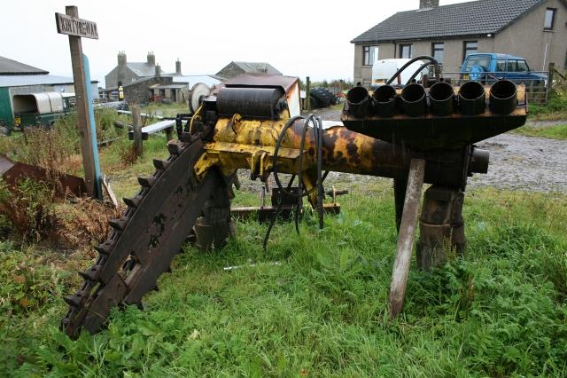 Peat Cutting Machine at Ballygroggan.