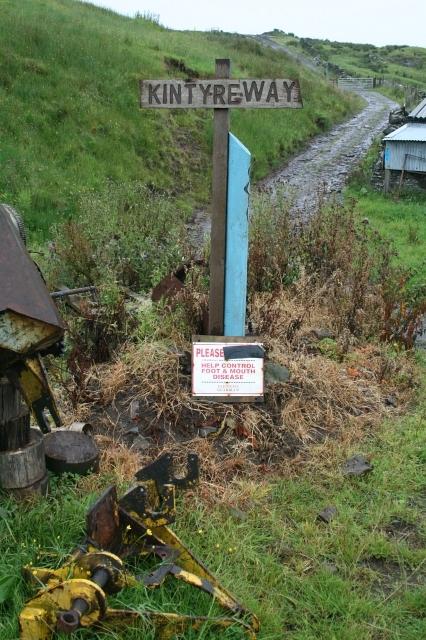 Foot and Mouth Disease Warning Sign at Ballygroggan.