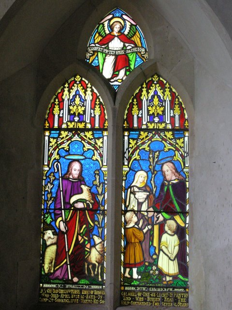 Welsh stained glass window