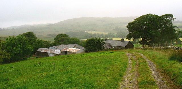 Track down to Nant Budr Farmhouse