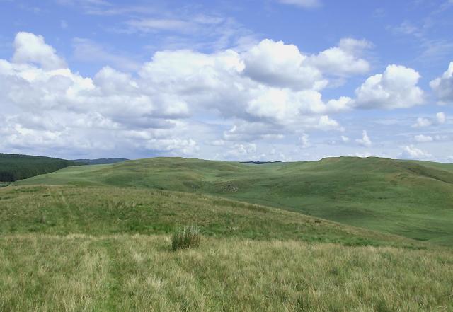 Elenydd Landscape north-east from Esgair Wynt, Ceredigion