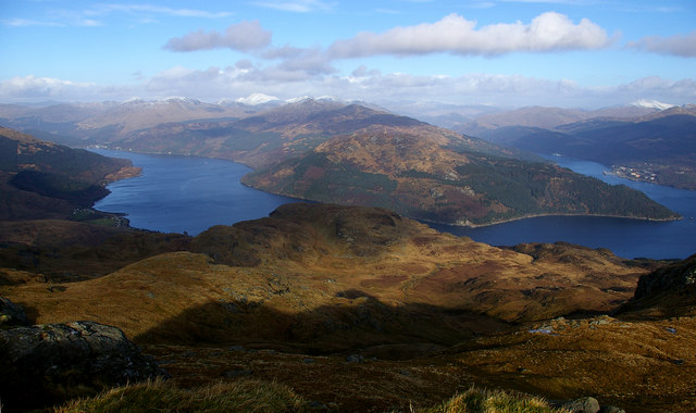 View of Lochs Goil & Long from Creachan Mor