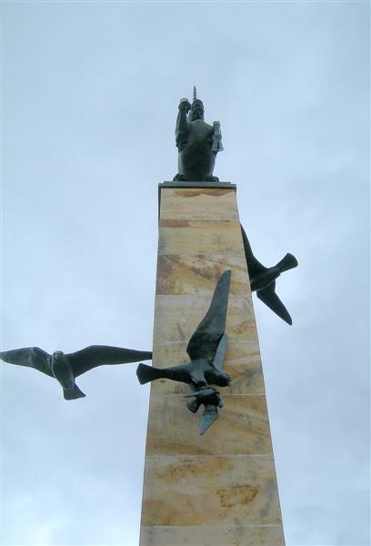 Falcon Square Statue