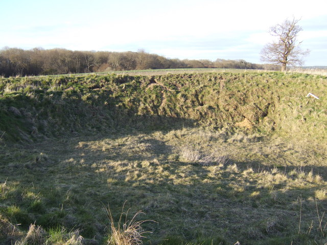 Earth works at the site of St. Mary's church, Caldecote