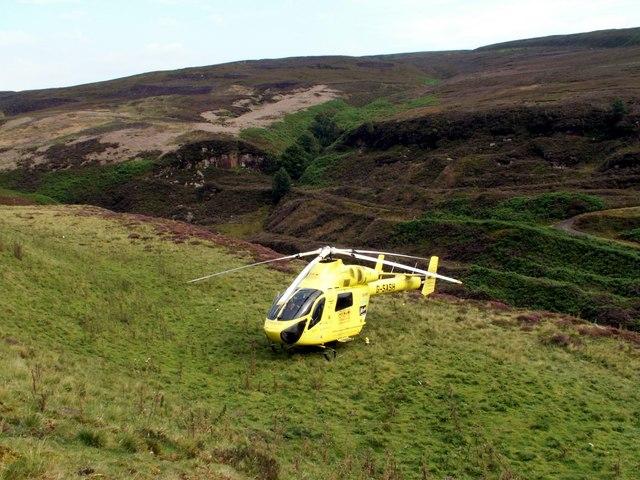 Yorkshire Air Ambulance in Derbyshire
