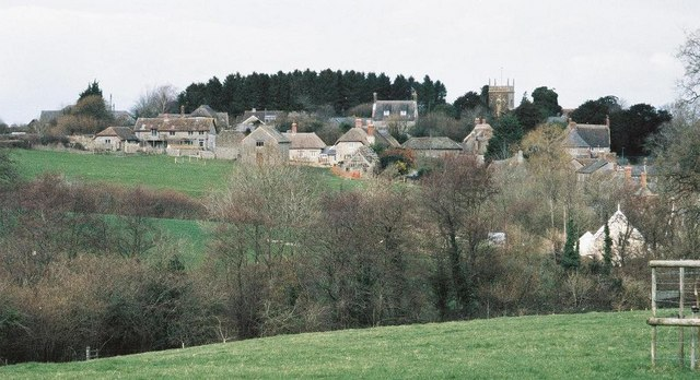 Looking out over Melbury Osmond