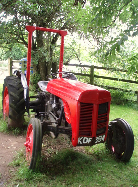 Tractor at Prickly Ball Farm