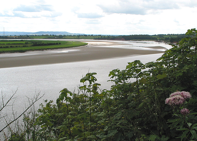 View across the bend in the River Severn