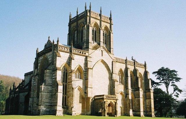 Milton Abbey: west front
