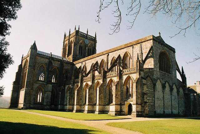 Milton Abbey: from the southeast