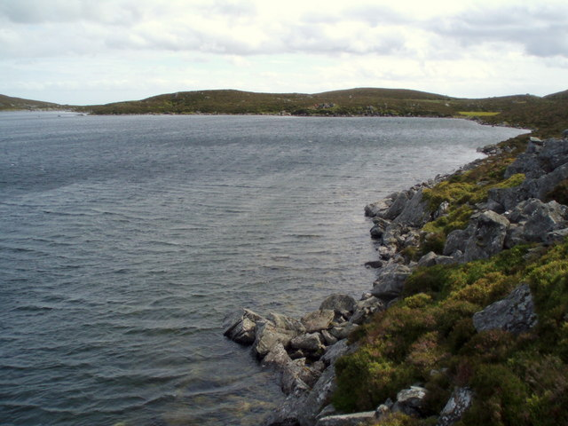 Across the loch and back towards the corrie lip