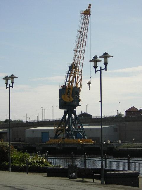 Crane  by River Wear