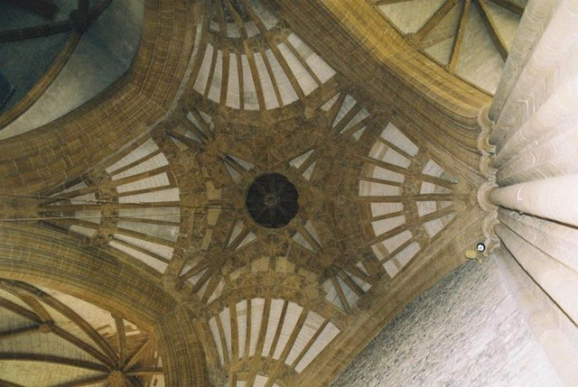 Milton Abbey: ceiling vaulting detail