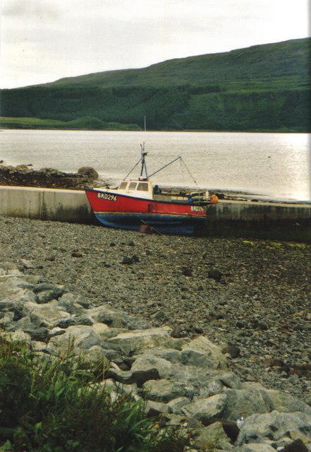 Fishing boat at slipway, Stein