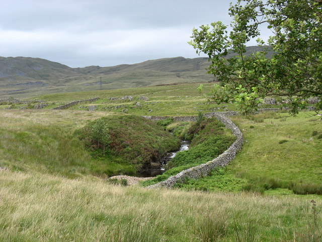 The valley of Afon Llafar above the Llafar curve