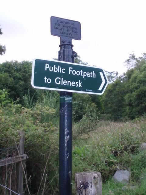 Footpath to Glen Esk