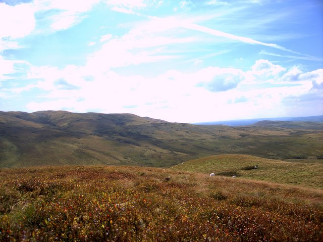 View from the west top of Carn Fflur
