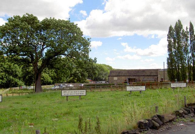 Blacker Hall Farm shop.
