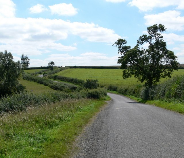 Country road south of Hungarton
