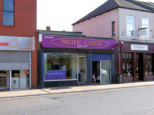 Castleford - Carlton Street, fish and chip shop
