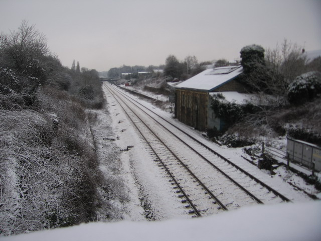 Corsham Station Engine Shed in Wintertime