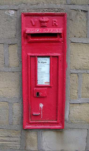 Victorian Post Box - Colne Road (Commercial Street)