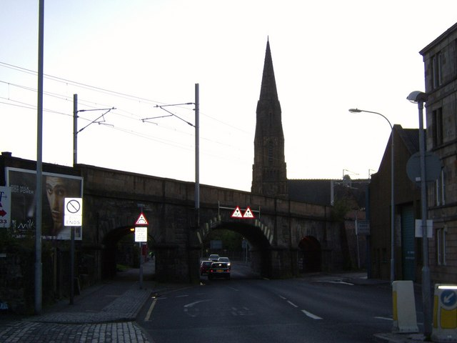 Railway bridge over Underwood Road, Paisley