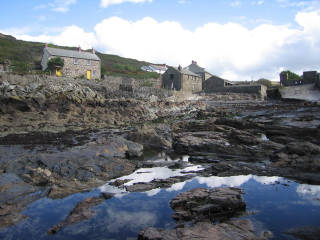 Rockpools and Disused Mill at Port Quin