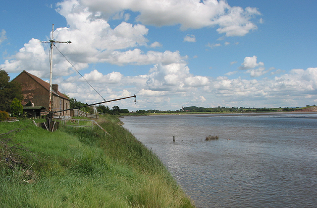 Tide turns on the Severn at Broadoak