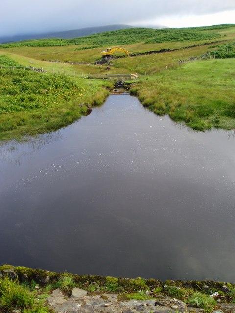 Kendoon Loch at Furmiston Bridge.