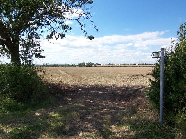 Public Footpath near Sadney Farm