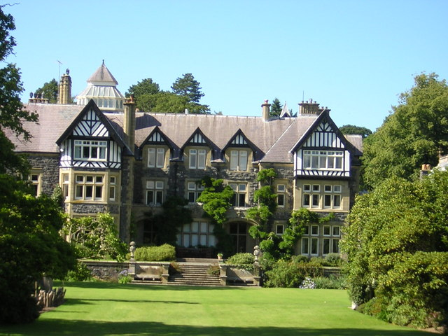 Bodnant Hall in mid Summer