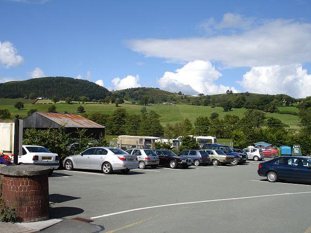 Car park in Llanfyllin