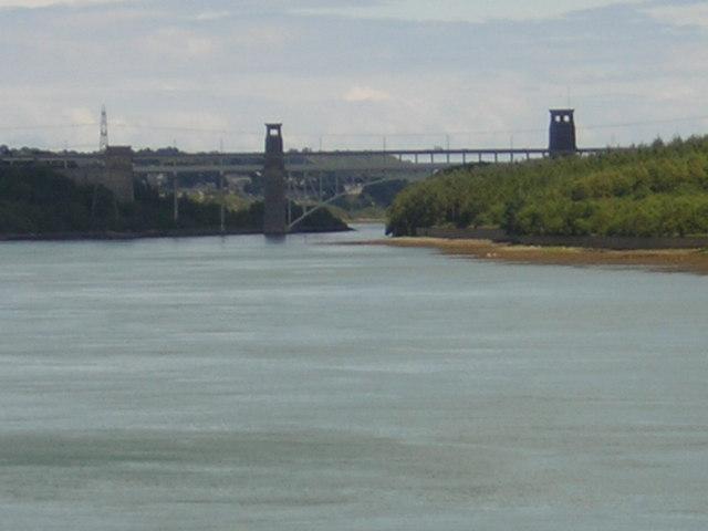 Pont Britannia from Plas Newydd