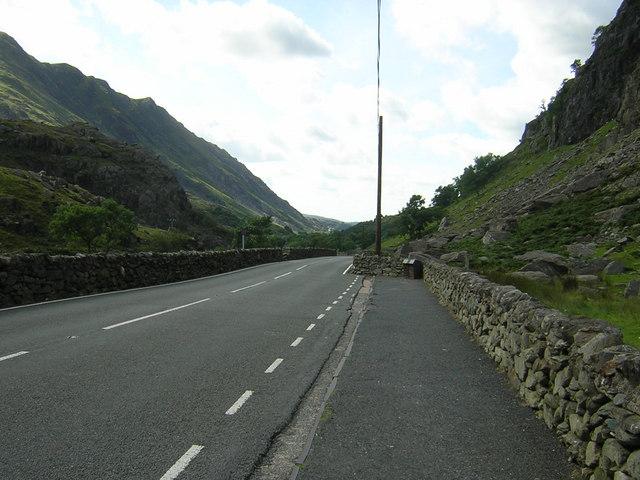 Llanberis pass road route