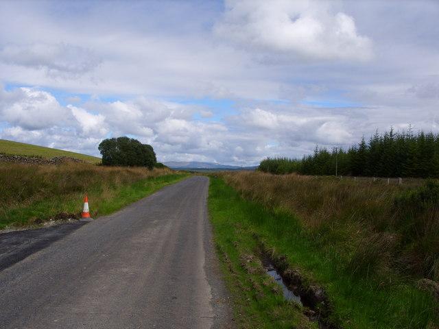 The B7027 near Kirkcalla