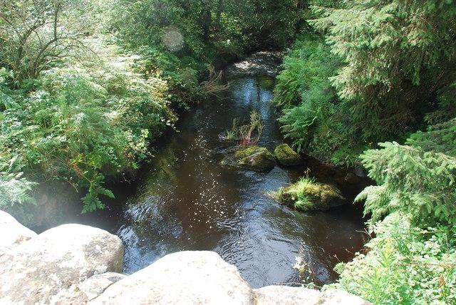 Afon Wen o Bont Ynys Creua - Afon Wen from Pont Ynys Creua