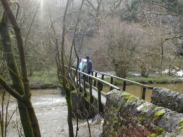 Footbridge over River Wye in Miller's Dale