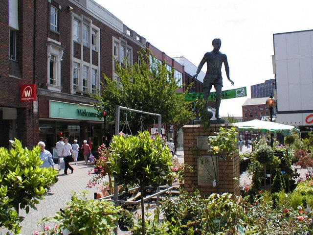 Stanley Matthews' statue in Hanley town centre
