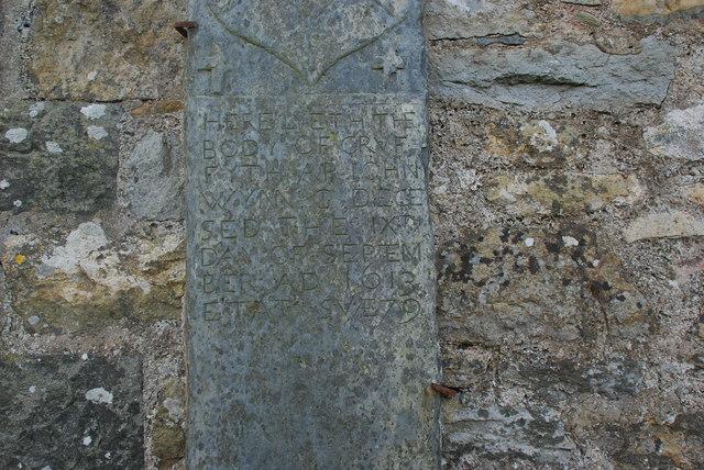 Hen garreg fedd Penrhos Old gravestone