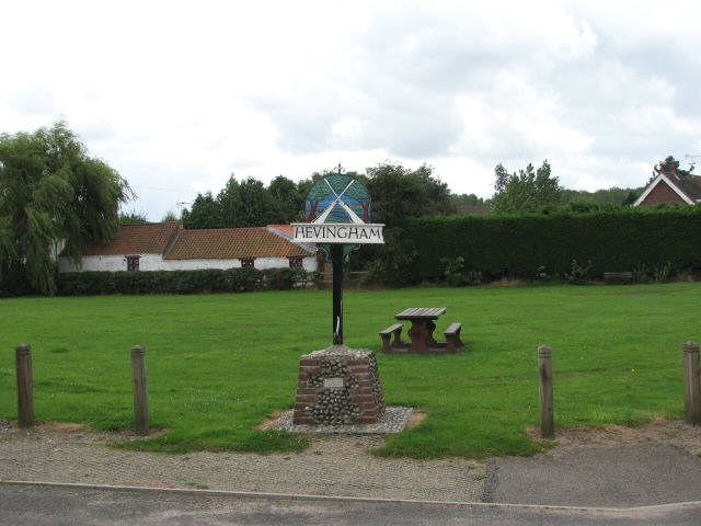 Hevingham Village Sign and Green