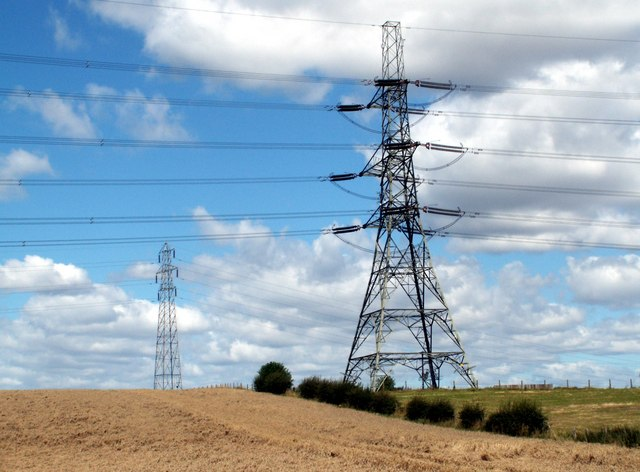 Barugh Hill and pylons.