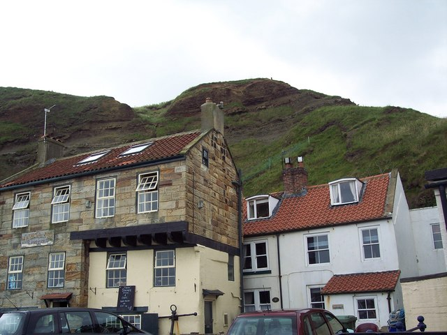 Cliff side houses in Staithes