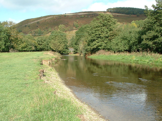 River Teme & Panpunton Hill at Knighton